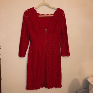Cache red dress lace 3/4 sleeve new scarlet color